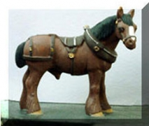 Draft Horse With Harness