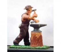 Blacksmith & Anvil- Unpainted Figure