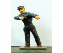 Loco Driver - Steam Unpainted Figure